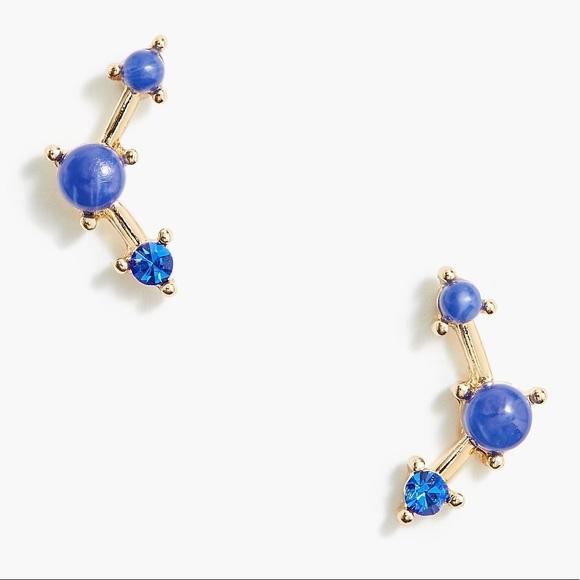 NWT J. Crew Blue Stone Constellation Earrings
